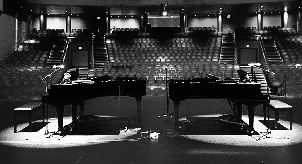 Pianos on stage
